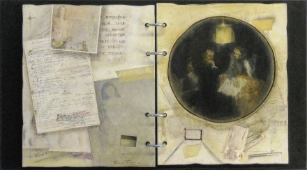 "BOARDING HOUSE  14 1/2"" x 26"" (37 X 66 cm) - Mixed media on wood - 2010"