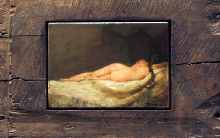 "NOCTURNE  9 1/2"" x 15""  (24 x 38cm)  oil on wood - 2004"