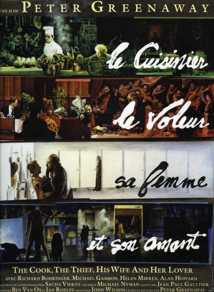 LE CUISINIER, LE VOLEUR, SA FEMME ET SON AMANT by Peter Greenaway - (film poster - oil on linen) - 1989