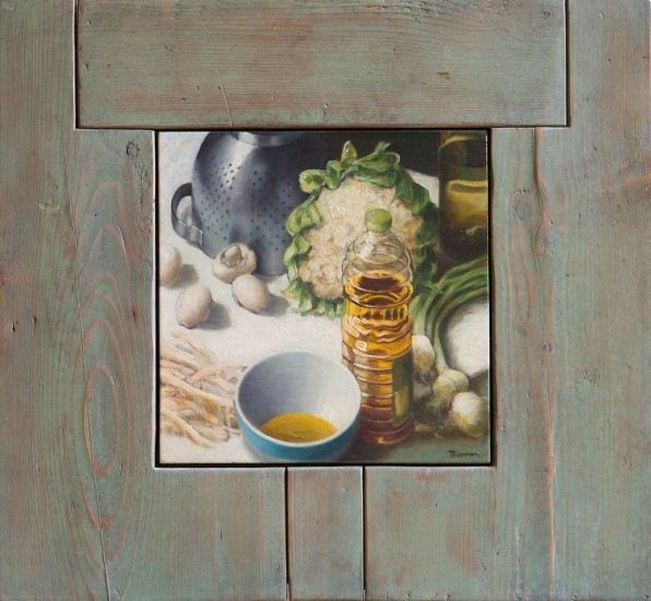"LA PASSOIRE  (STRAINER)  - 28 1/2"" x 30 1/2""  (72 x 78cm) - oil on panel - 2007"
